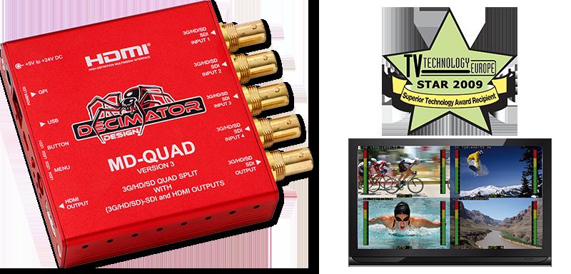 MD-QUAD Quad-Split MultiViewer